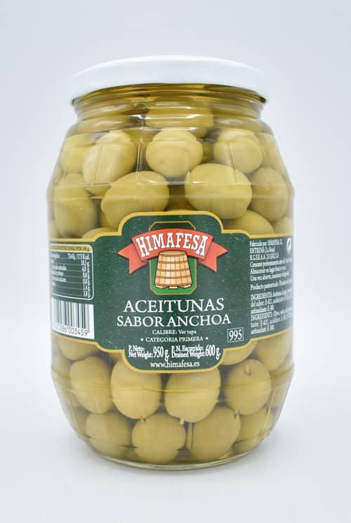 barril 995 aceitunas sabor anchoa